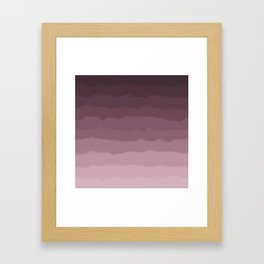 Gray Heather Fluff Gradient Framed Art Print