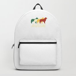 Australian Shepherd Aussie Retro Dog Mom Dog Dad Backpack