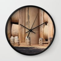 buddhism Wall Clocks featuring Buddhism ancient place in Sanchi by Four Hands Art