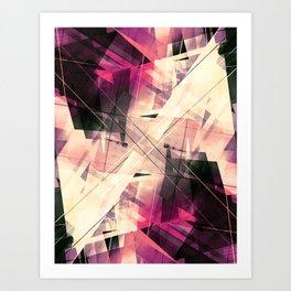 Future Punk - Geometric Abstract Art Art Print