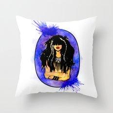 Night Sea Nereid Throw Pillow