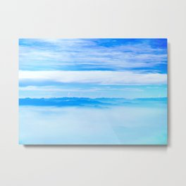 Heavenly Mountains In A Sea Of Clouds Metal Print