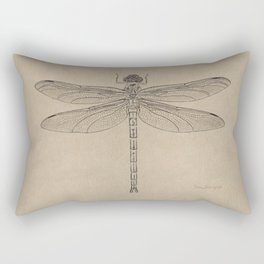 Dragonfly Fossil Dos Rectangular Pillow