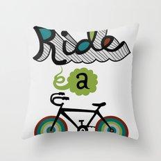 Ride a Bike 3  Throw Pillow