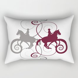 Dressage Horse Swirls Rectangular Pillow