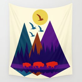 Three Bison Wall Tapestry