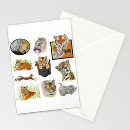 Big Cat Sticker Pack 1 Stationery Cards