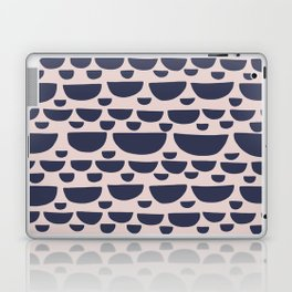 Half moon horizontal geometric print - Navy Laptop & iPad Skin