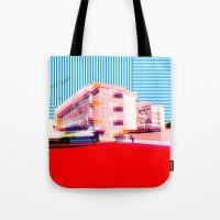 bauhaus Tote Bags featuring Bauhaus · Das Bauhaus 6 by Marko Köppe
