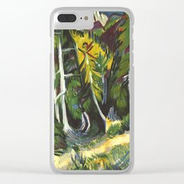 Ernst Ludwig Kirchner Forest Gorge at Staffel c1938 Clear iPhone Case