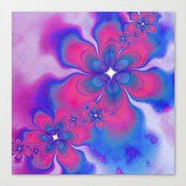 Fleurs Fête Fractal Canvas Print