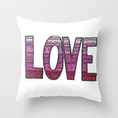 Love Design Throw Pillow