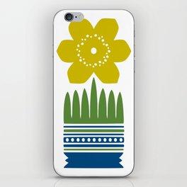 Nordic Yellow Flower iPhone Skin