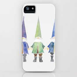 Three funny gnomes iPhone Case