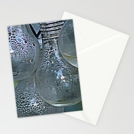 Rain on Light Bulbs Cluster Stationery Cards