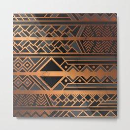 Black & Gold 028 Metal Print