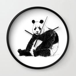 Sad Panda Wall Clock