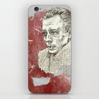camus iPhone & iPod Skins featuring Camus - The Stranger by Nina Palumbo Illustration