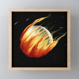Fireball! Framed Mini Art Print