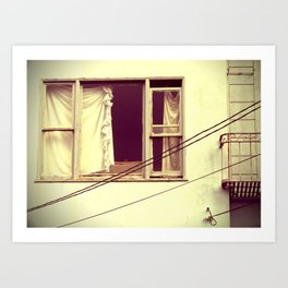 window treatments Art Print