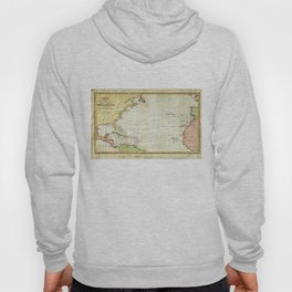 Vintage Christopher Columbus Voyage Map (1828) Hoody