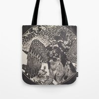 mythology Tote Bags featuring mythology by Liss527