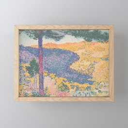 Valley with Fir (Shade on the Mountain) by Henri-Edmond Cross1909, French Framed Mini Art Print