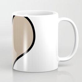 Pantone Hazelnut Heart Shape with Black Border Digital Illustration, Minimal Art Coffee Mug