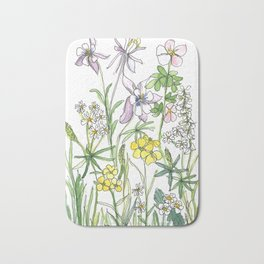 Colorado Wildflowers Bath Mat