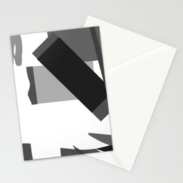 Matisse Inspired Black and White Collage Stationery Cards