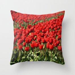 Tulips field #4 Throw Pillow
