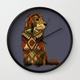 Golden Retriever dusk Wall Clock