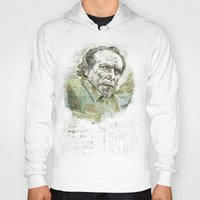 bukowski Hoodies featuring Charles Bukowski by Nina Palumbo Illustration