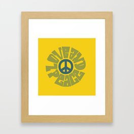 Love and Peace 15 Framed Art Print
