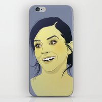 emma watson iPhone & iPod Skins featuring Emma Watson funny face by Esther Cerga