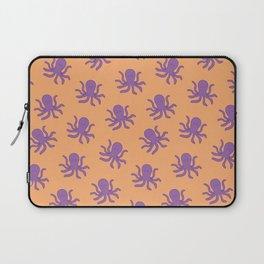 Friendly Octopus // Orange Pattern Laptop Sleeve