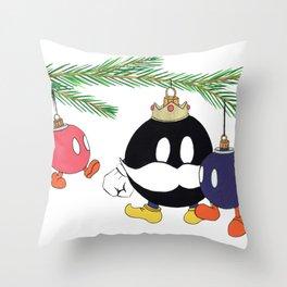 Christmas' Bobomb Throw Pillow