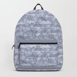 Flower pattern blue . Backpack