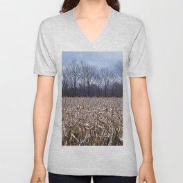 Field of Corn left Behind Unisex V-Neck