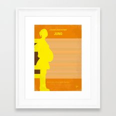 No326 My JUNO minimal movie poster Framed Art Print