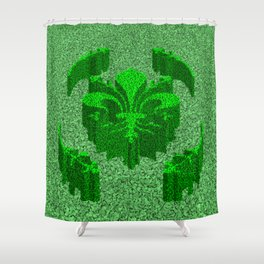 Florentine Green Garden Shower Curtain