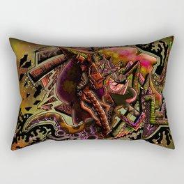 Bi-polar (psychedelic) Rectangular Pillow