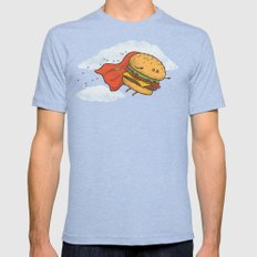 Superburger! Tri-Blue Mens Fitted Tee SMALL