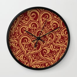 Refined hearts Wall Clock