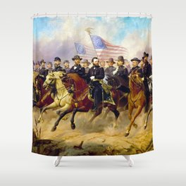 Grant and His Generals by Ole Peter Hansen Balling (1865) Shower Curtain