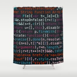 Computer Science Code Shower Curtain