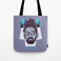 breaking bad Tote Bags featuring BREAKING BAD by Mike Wrobel