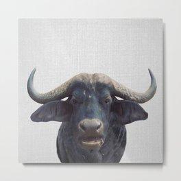 African Buffalo - Colorful Metal Print