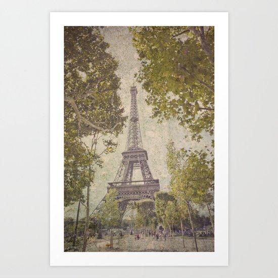 The painted Eiffel Art Print