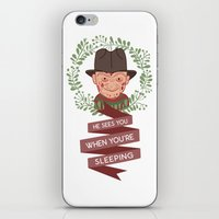 freddy krueger iPhone & iPod Skins featuring Freddy Krueger Christmas by Big Purple Glasses